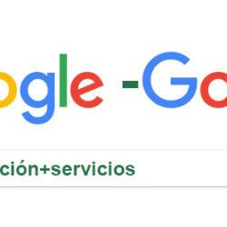 La búsqueda eficiente de palabras requeridas y excluidas en Google