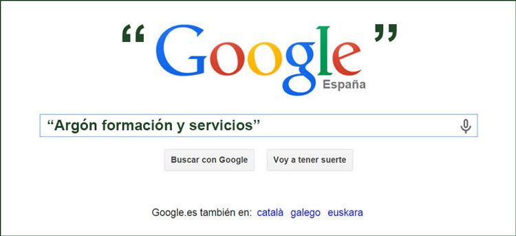 La búsqueda eficiente de frases literales en Google